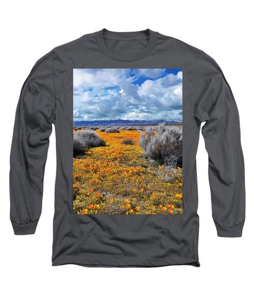 California Poppy Patch Long Sleeve T-Shirt
