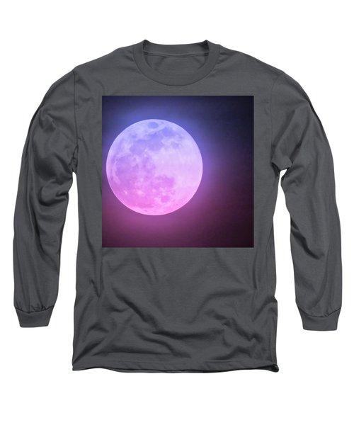 Cancer Super Wolf Blood Moon Near Eclipse Long Sleeve T-Shirt