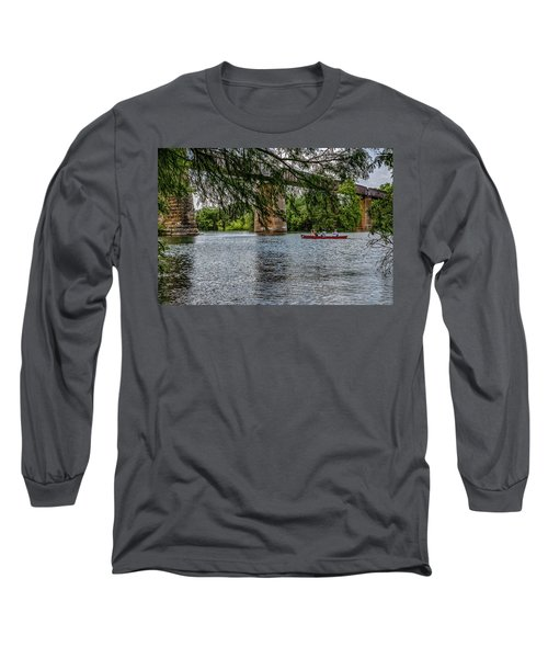 Canoeing Lady Bird Lake Long Sleeve T-Shirt
