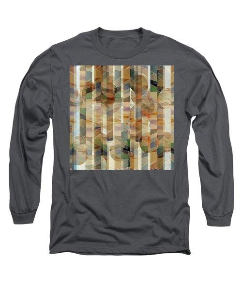 Canyon Circles And Stripes Long Sleeve T-Shirt