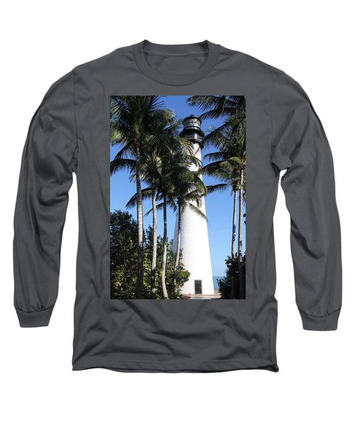 Cape Florida Lighthouse - Key Biscayne, Miami Long Sleeve T-Shirt