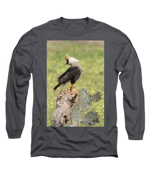 Caracara Head Throw Long Sleeve T-Shirt