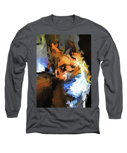 Cat With The Turned Head Long Sleeve T-Shirt
