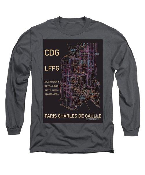 Cdg Paris Airport Long Sleeve T-Shirt