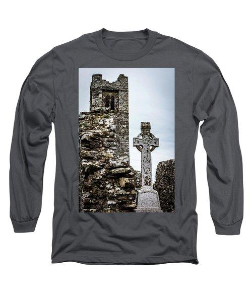 Celtic Cross At Hill Of Slane Long Sleeve T-Shirt