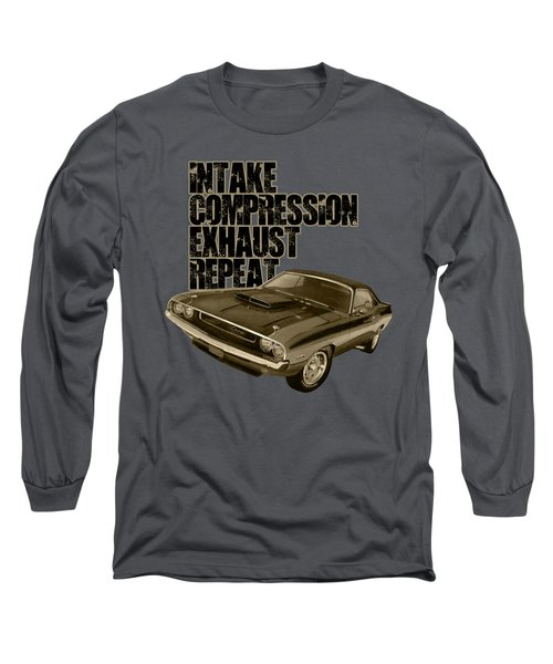 Challenger Engine Cycle Long Sleeve T-Shirt