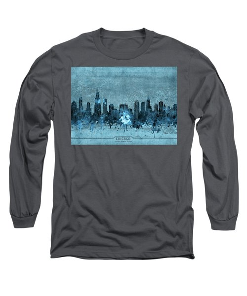 Chicago Skyline Vintage 4 Long Sleeve T-Shirt