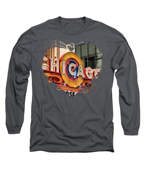 Chicago Theatre Marquee Long Sleeve T-Shirt