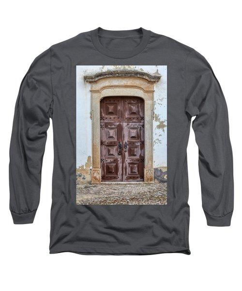 Church Door Of Obidos Long Sleeve T-Shirt