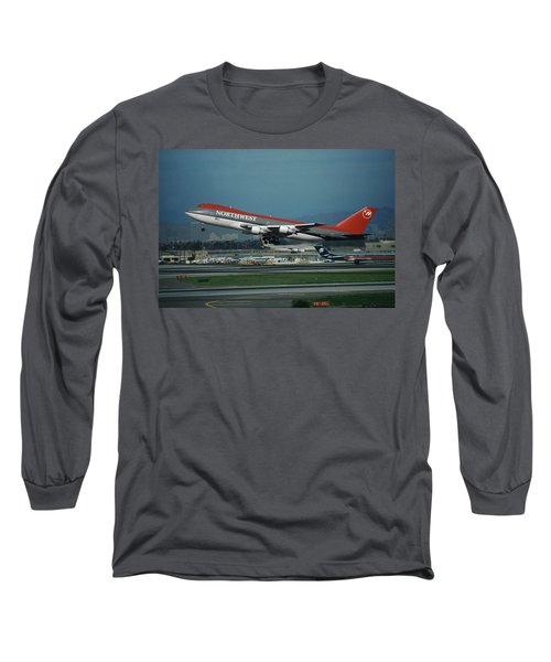 Classic Northwest Airlines Boeing 747 Long Sleeve T-Shirt