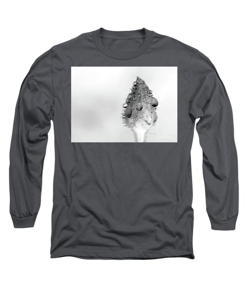 Clematis Bud In Rain Long Sleeve T-Shirt