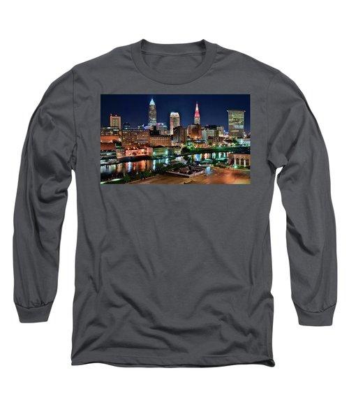 Cleveland Iconic Night Lights Long Sleeve T-Shirt