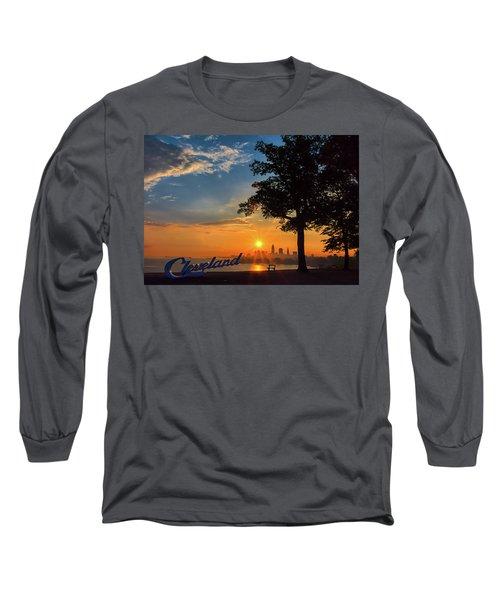 Cleveland Sign Sunrise Long Sleeve T-Shirt