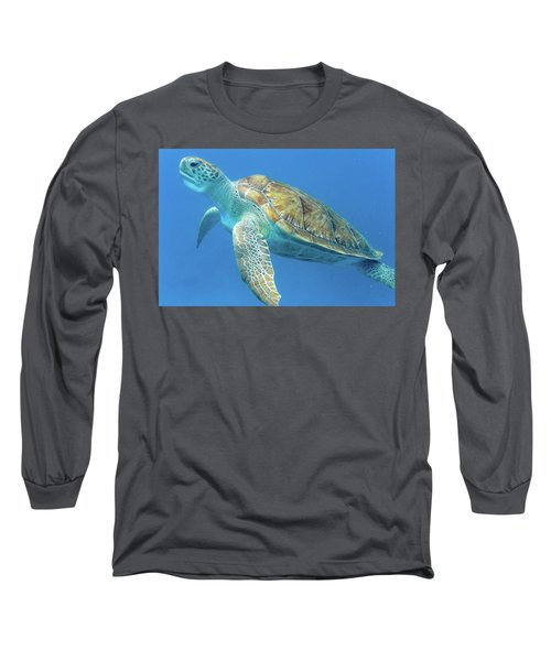 Close Up Sea Turtle Long Sleeve T-Shirt