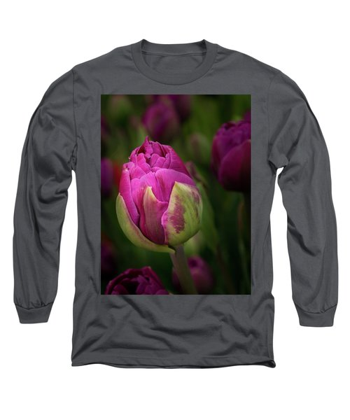 Closed Pink Tulip Long Sleeve T-Shirt
