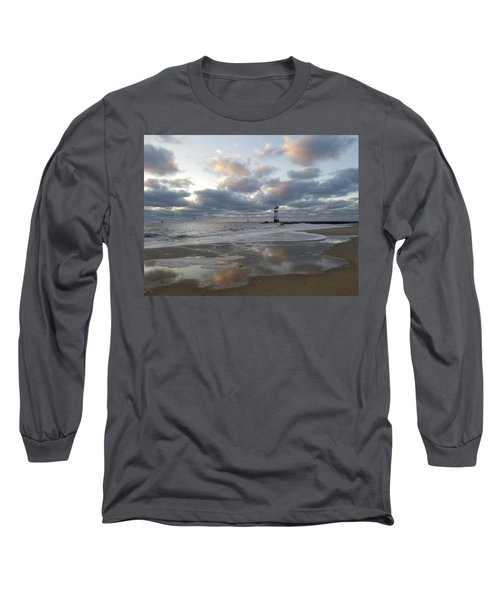 Cloud's Reflections At The Inlet Long Sleeve T-Shirt