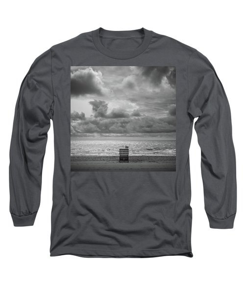 Cloudy Morning Rough Waves Long Sleeve T-Shirt