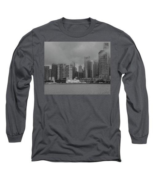 Cloudy Skyline Long Sleeve T-Shirt