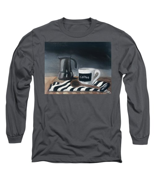 Long Sleeve T-Shirt featuring the painting Coffee Time by Fe Jones