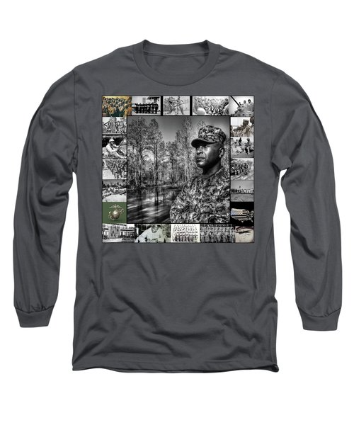 Colonel Trimble Collage Long Sleeve T-Shirt