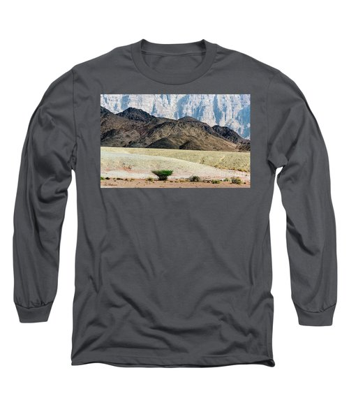 Long Sleeve T-Shirt featuring the photograph Color Layers In The Desert by Arik Baltinester