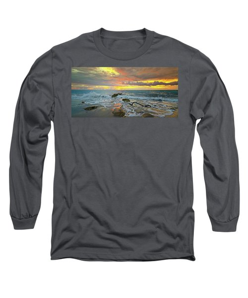 Colorful Morning Sky And Sea Long Sleeve T-Shirt