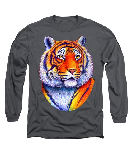 Fiery Beauty - Colorful Bengal Tiger Long Sleeve T-Shirt