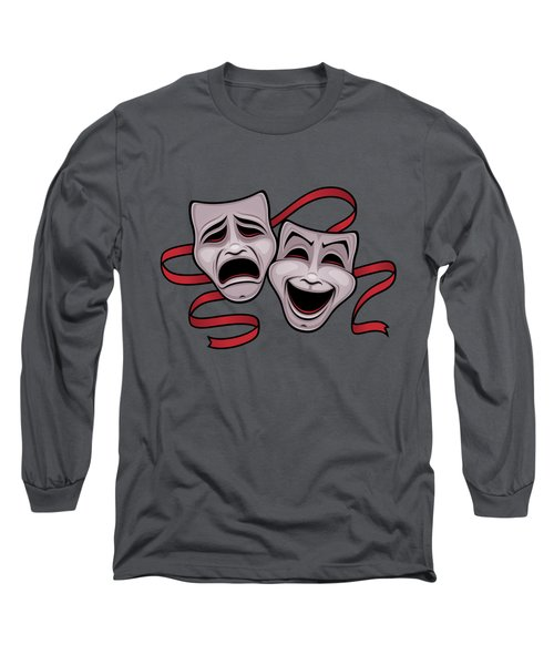 Comedy And Tragedy Theater Masks Long Sleeve T-Shirt