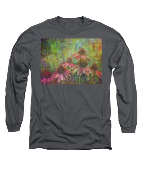 Coneflowers Among The Lavender 1667 Idp_2 Long Sleeve T-Shirt