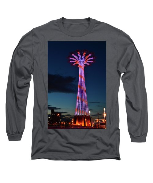 Coney Island Lights Long Sleeve T-Shirt