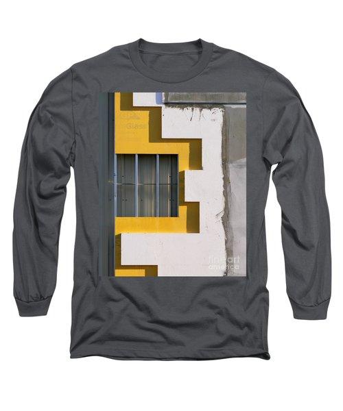 Construction Abstract Long Sleeve T-Shirt