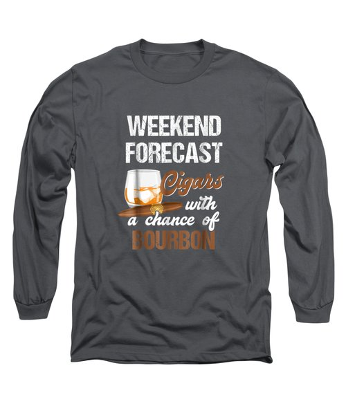 Cool Shirt For Cigars And Bourbon Lover. Gift For Grandpa. Long Sleeve T-Shirt