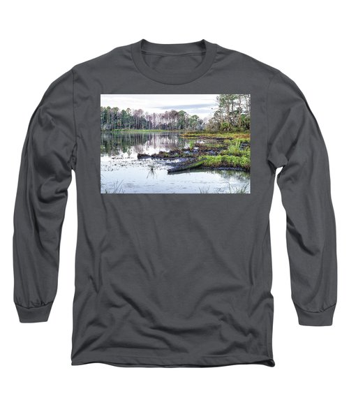 Coosaw - Early Morning Rice Field Long Sleeve T-Shirt