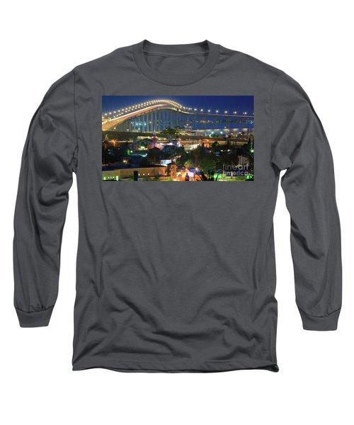 Coronado Bay Bridge Shines Brightly As An Iconic San Diego Landmark Long Sleeve T-Shirt