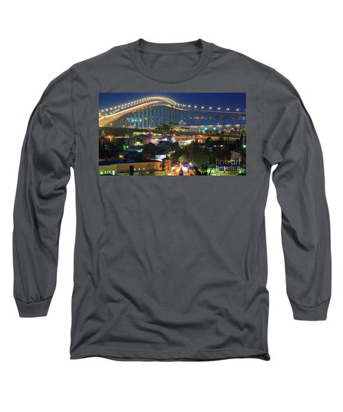 Coronado Bay Bridge Shines Brightly As An Iconic San Diego Landmark Long Sleeve T-Shirt