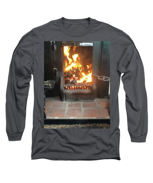 Cosy Winter Fire Long Sleeve T-Shirt