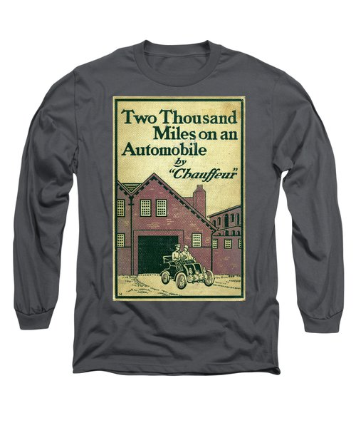 Cover Design For Two Thousand Miles On An Automobile Long Sleeve T-Shirt
