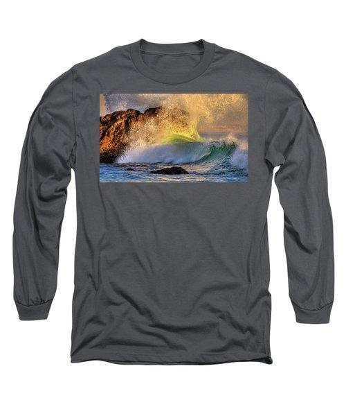 Crashing Wave Leo Carrillo Beach Long Sleeve T-Shirt