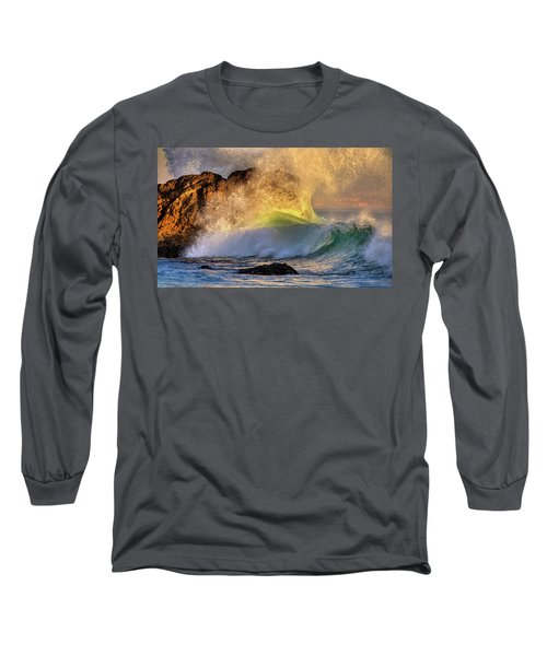Crashing Wave Leo Carrillo Beach Long Sleeve T-Shirt