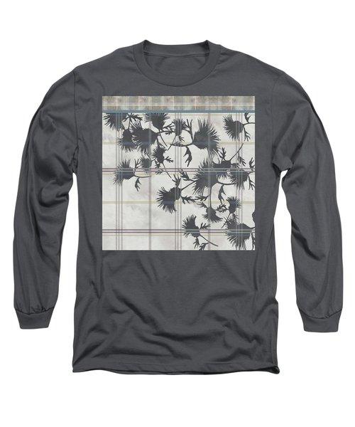 Cream Thistle Plaid Contrast Border Long Sleeve T-Shirt