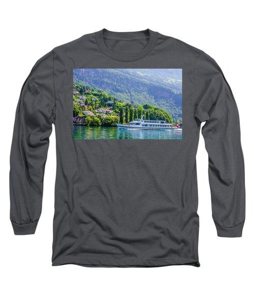 Cruising Lake Lucerne Long Sleeve T-Shirt