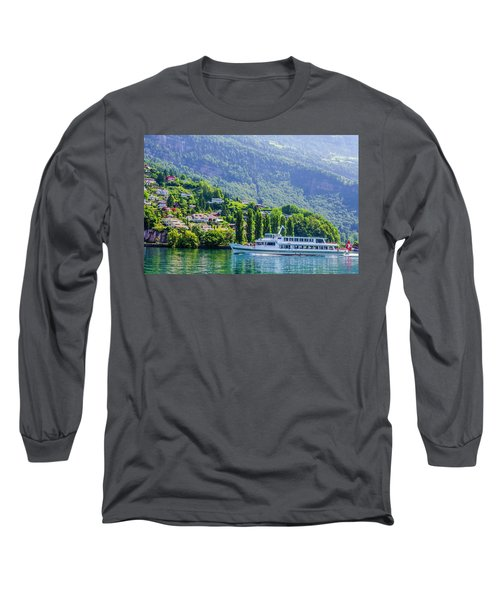 Cruising Lake Lucerne Long Sleeve T-Shirt