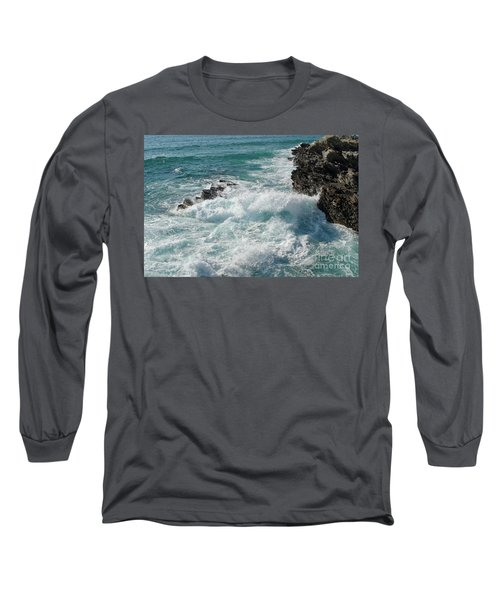Crushing Waves In Porto Covo Long Sleeve T-Shirt