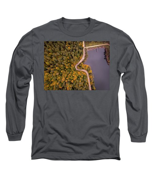 Curved Road At Lakeside Long Sleeve T-Shirt