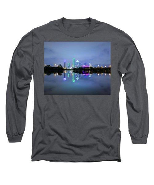 Dallas Cityscape Reflection Long Sleeve T-Shirt
