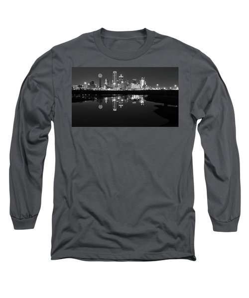Dallas Texas Cityscape Reflection Long Sleeve T-Shirt