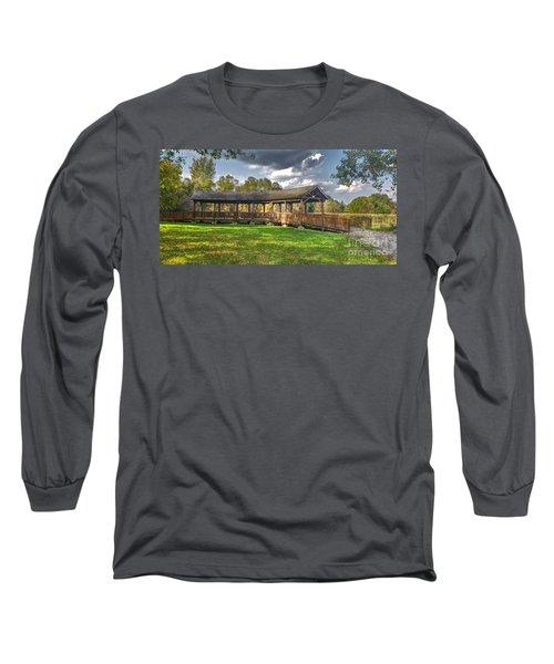 Deck At Pickerington Ponds Long Sleeve T-Shirt