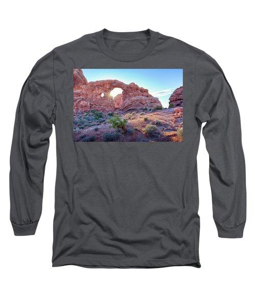 Desert Sunset Arches National Park Long Sleeve T-Shirt