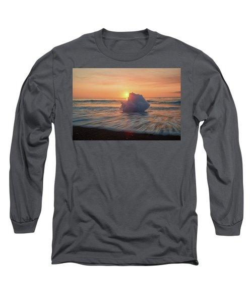 Diamond Beach Sunrise Iceland Long Sleeve T-Shirt