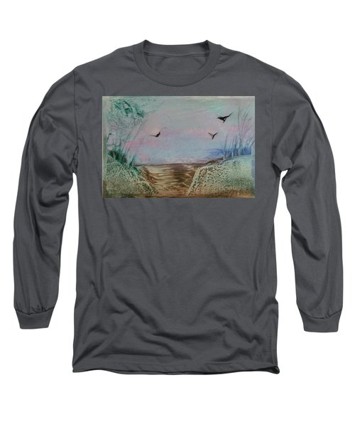 Dirt Road Through A Valley Long Sleeve T-Shirt